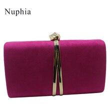 Nuphia Wildleder Abend Kupplung Taschen und Kupplungen Partei Abend Taschen für Frauen Gelb Royal Blau Orange Rot Lila