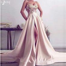 Платье женское ТРАПЕЦИЕВИДНОЕ с высоким разрезом пикантное легкое