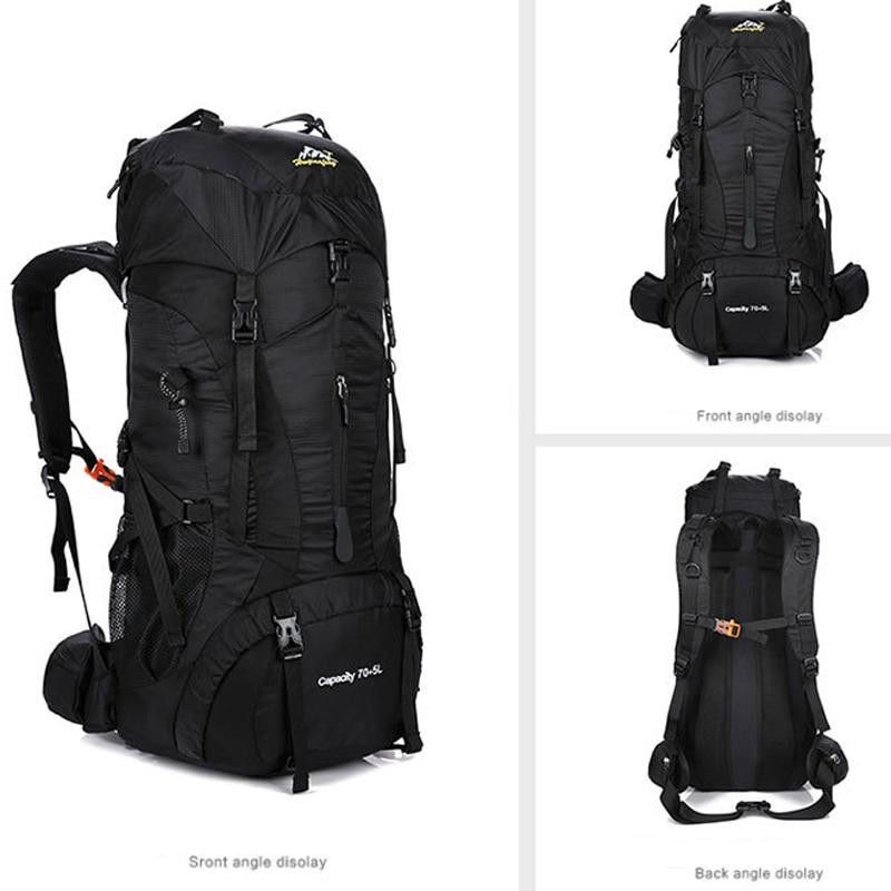75L Nylon Camping Hiking Backpack Waterproof Sports Bag Outdoor Travel Trekking Rucksack Mountain Climb Equipment Men