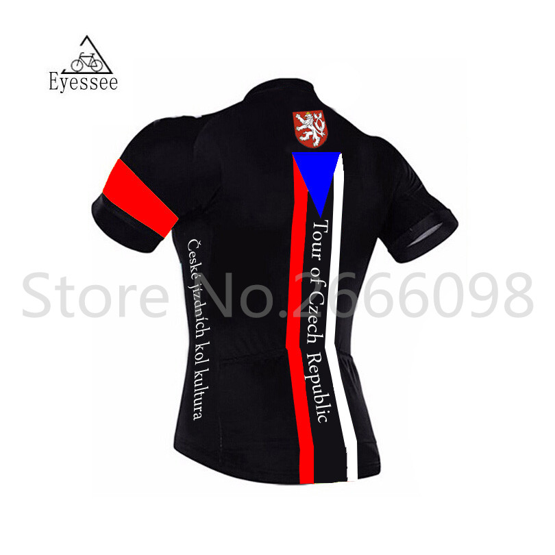 Eyessee pro bicycle clothing Tour of Czech Republic cycling Jerseys   2018  cyklistika short sleeve national flag bike jersey-in Cycling Jerseys from  Sports ... 93f966422