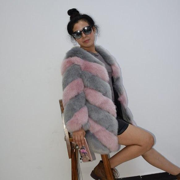 ac95285c90a ZADORIN 2018 Designer Brand Luxury Faux Fox Fur Coat Women Plus Size Winter  Coat Thick Warm Fake Fur Jacket Coats chaqueta mujer