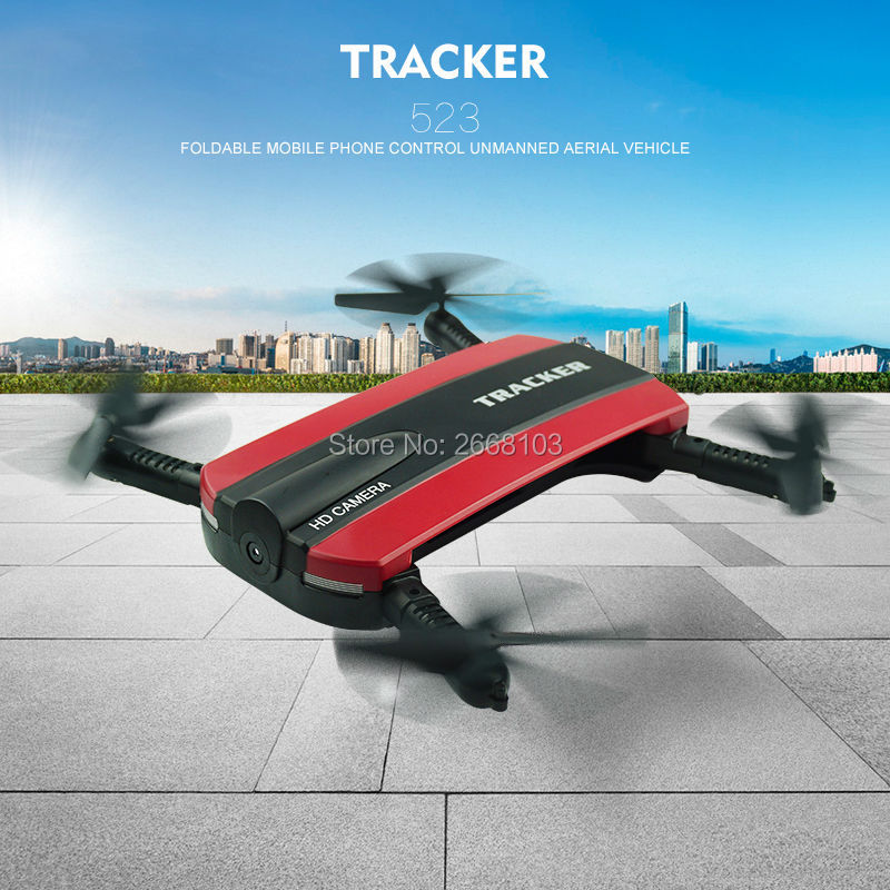 JXD 523 Tracker Selfie Pocket Drone Altitude Hold Foldable JXD523 Mini RC Quadcopter WIFI FPV Camera