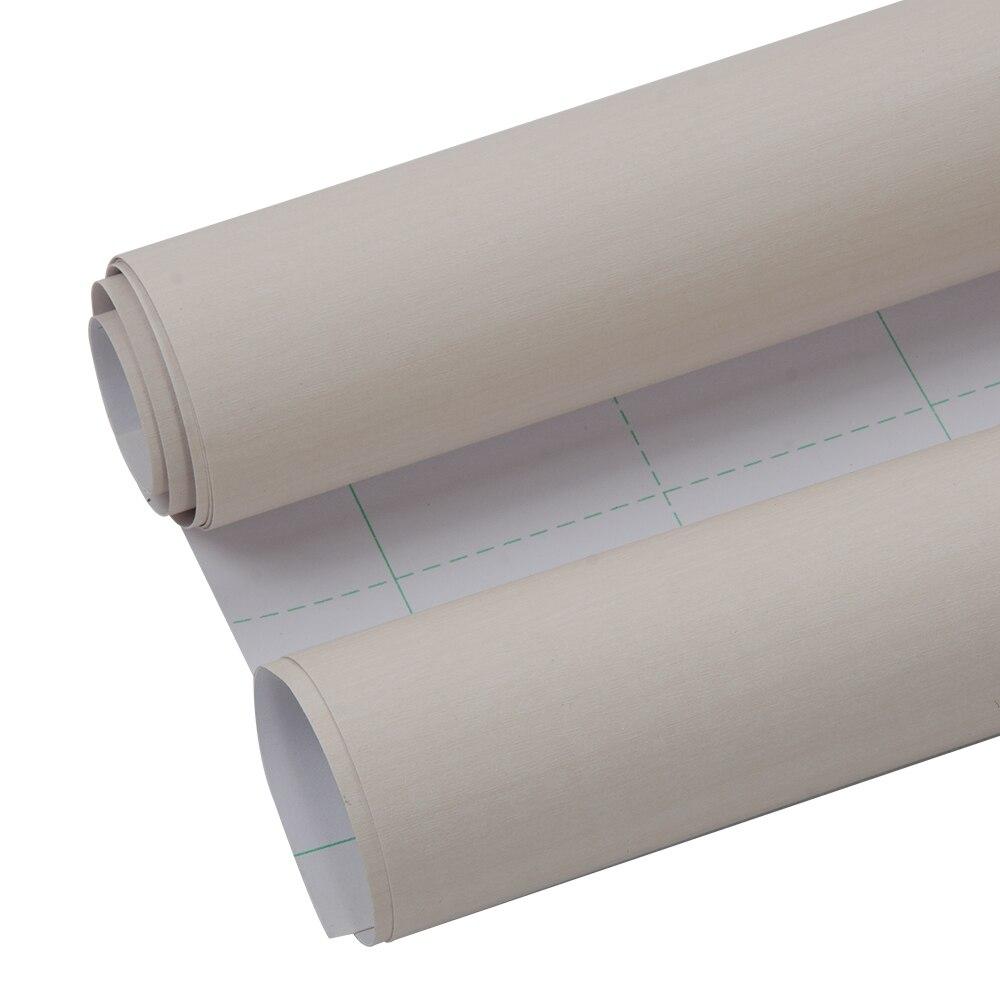 1.24x15 m Premium Film de Grain de bois Fiber vinyle Wrap voiture autocollant Moto Auto intérieur PVC Film