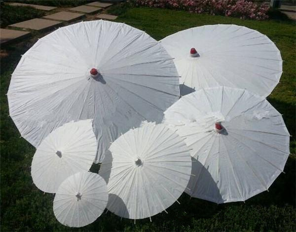Wholesale DIY Painting White Paper Umbrellas Bridal Wedding Parasols Chinese Style Mini Craft Umbrella Umbrellas 10pcs/Lot