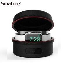 Smatree Зарядное устройство сумки для наручных часов iWatch серии 4/3/2/1 QI Беспроводная зарядка крышка чехол для Apple Watch, версии Зарядное устройство Портативный переноски Чехол