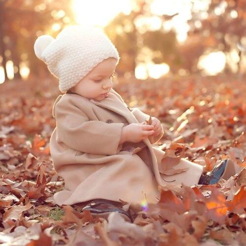 Pretty Kids Beige Winter Children Long A-shaped Coat KIDS Outwear Trench