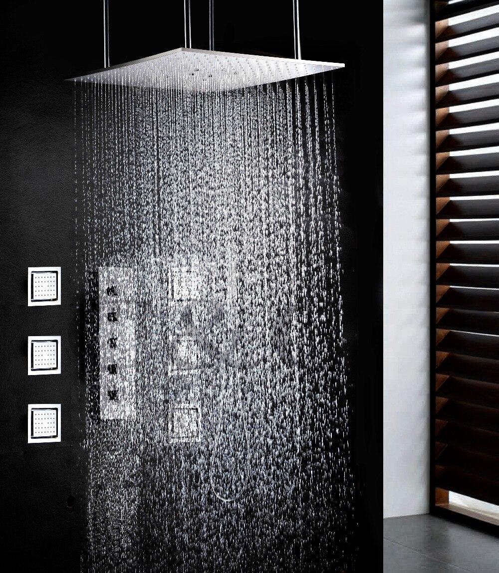 Oscillante E Precipitazioni Vasca Da Bagno Set Da Bagno 20 pollice Due Funzioni Soffione doccia Con Doccia Rubinetto Valvola di Flusso di Acqua di Grandi Dimensioni