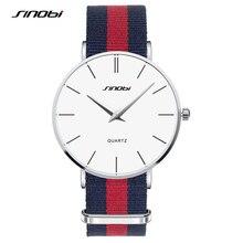 SINOBI Fashion Top Luxury Brand Watches Men Fabric Quartz-Watch Ultra Thin Dial Clock Man Relogio Masculino Uhren Damen SW01