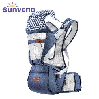 Sunveno respirável portador de bebê ergoryukzak frente de frente portador de bebê estilingue confortável para recém-nascidos