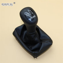 6 Speed Car Stick Gear Shift Knob With Leather Gaiter For Mercedes Benz W202 C (93-01) W208 CLK (97-03) W210 E (95-03) AVANTGARD(China)