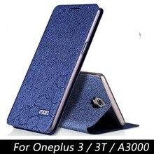 Оригинал MOFI Телефон Чехол для Oneplus 3 3 Т Три Крышки Флип стенд Кожаный Чехол Противоударный Защитный Shell для Один Плюс 3 A3003
