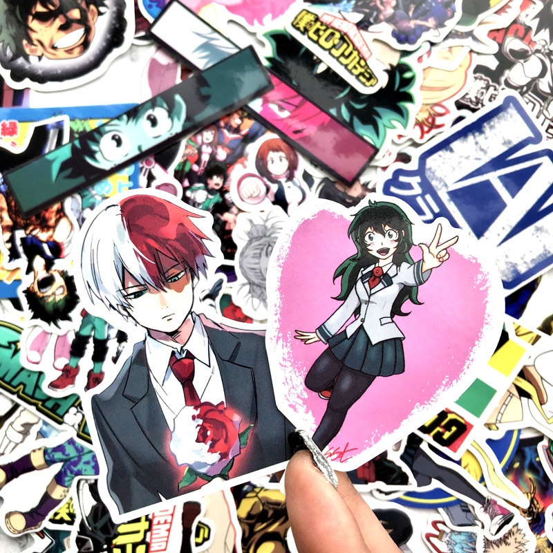 70pcs My Hero Academia Anime Stickers Bomb Popular Suitcase Laptop Skateboard Sticker Pack Boku No Hero Academia