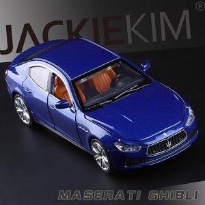 Image 3 - 높은 시뮬레이션 절묘한 다이 캐스트 및 장난감 차량: Caipo 자동차 스타일링 마세라티 지브리 1:32 소리와 빛으로 합금 자동차 모델