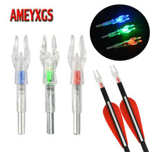 6/9pcs Archery Arrow Nock With LED Light Automatic Illuminated Cam Fit 4.2mm Shaft Bow Hunting Shooting Accessories