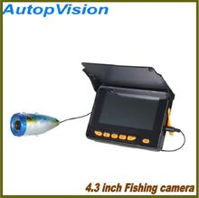Underwater Night Vision Video Fishing Camera 20m Cable Line/4.3inch LCD Monitor Screen/6 LED Lights Visual Fish Finder