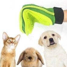 Щетка для собак перчатки Мочалка для животных Deshedding нежный эффективный уход за питомцами перчатки собака Ванна Кот средства по уходу за домашними животными перчатки расчески для собак
