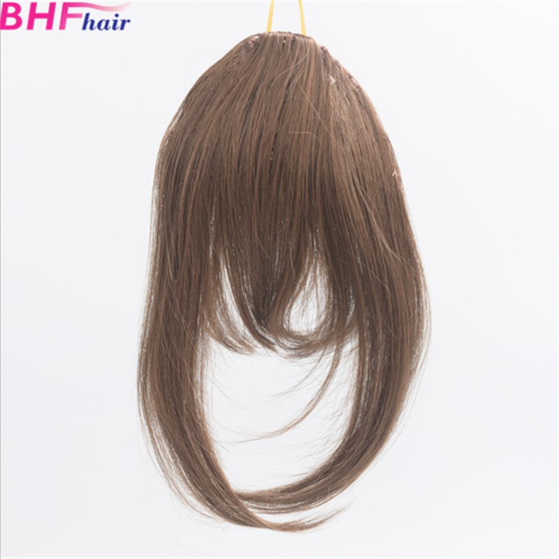 Fake Fringe Hair Piece Colored Hair Extensions Synthetic Hair Front