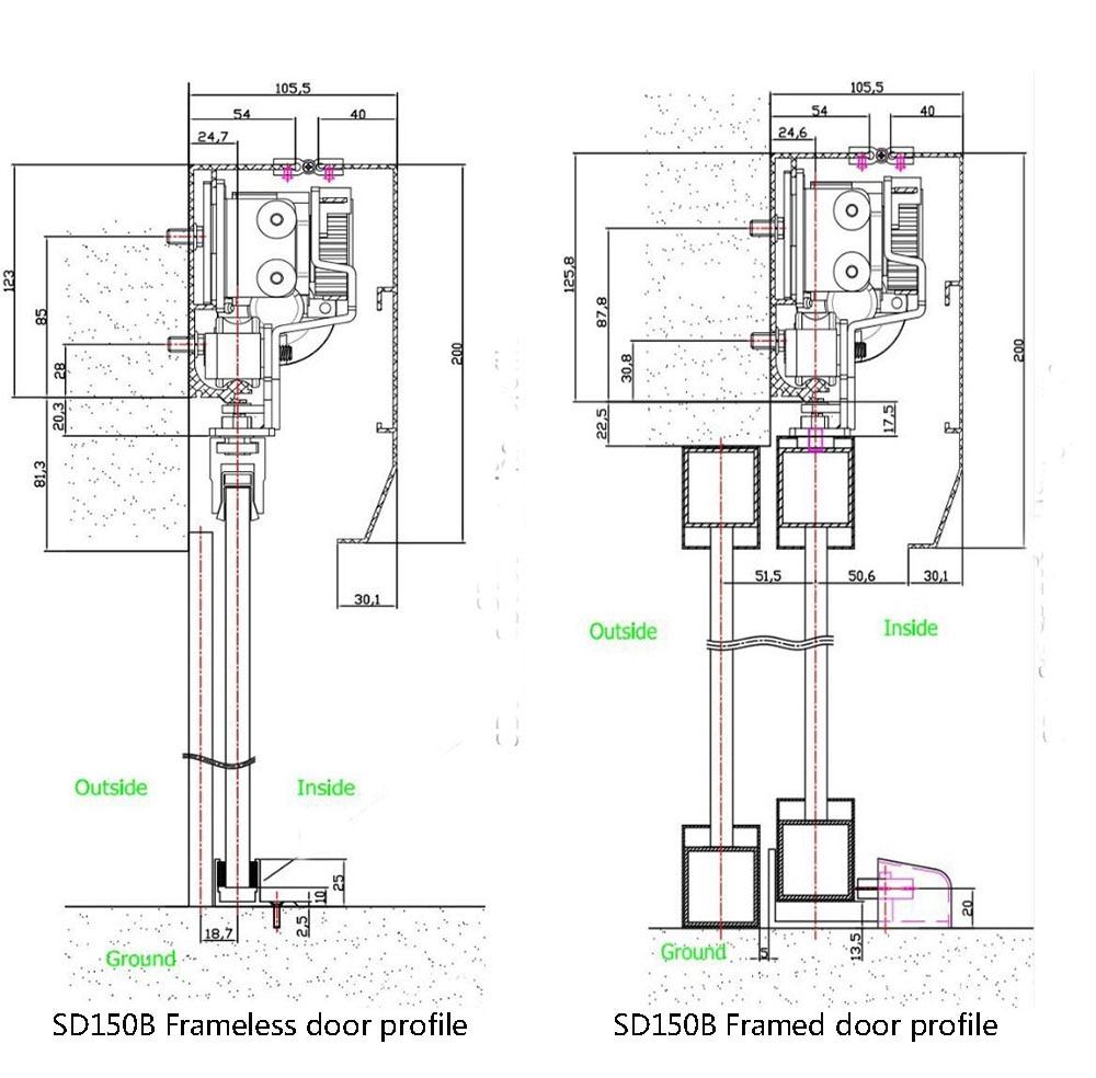 Automatic Sliding Glass Door Operator / Auto Sensor