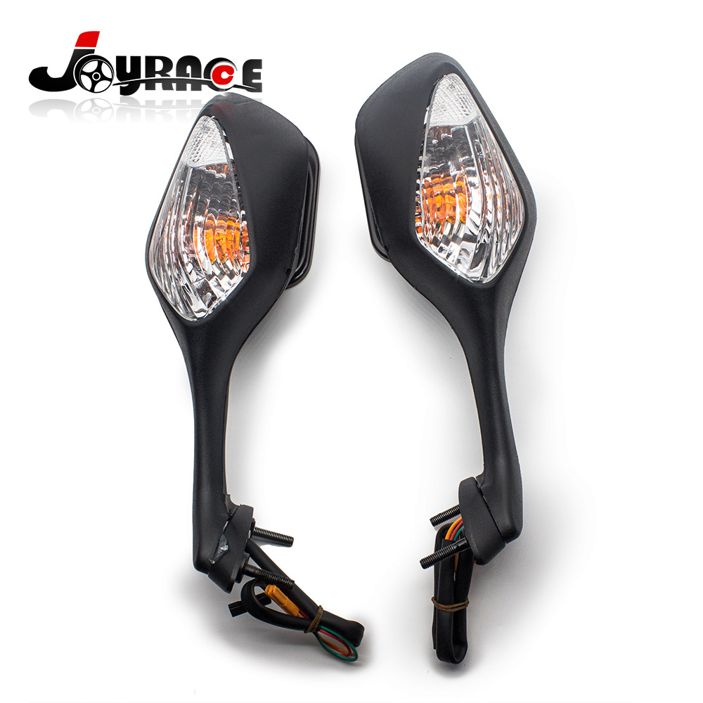 Black Integrated Turn Signal Motorcycle Mirrors For Honda CBR1000RR 2008-2012 arashi motorcycle radiator grille protective cover grill guard protector for 2008 2009 2010 2011 honda cbr1000rr cbr 1000 rr