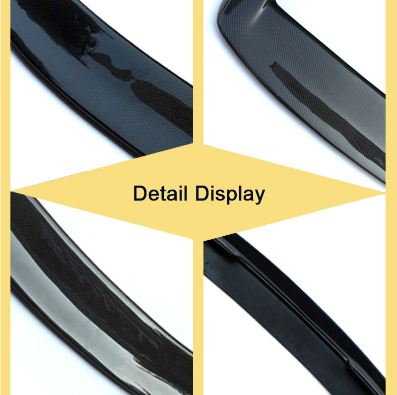Ala del techo del alerón trasero F20 verdadera fibra de carbono alas de pato de estilo 3D para BMW 1 Series F20 118i 120i 128i ala del alerón trasero 12 14 - 6