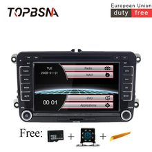 TOPBSNA 7 inch Car font b radio b font Wince 6 0 For VW Golf 5