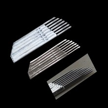21 needles Permanent Makeup Eyebrow Tatoo Blade Microblading Needles For 3D Embroidery Manual Tattoo Pen Ma