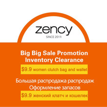 Zency Inventory Clearance $9.9 Women Clutch Bag and Wallet 100% Genuine Leather Good Quality New Model Not Allow Return Refund(China)