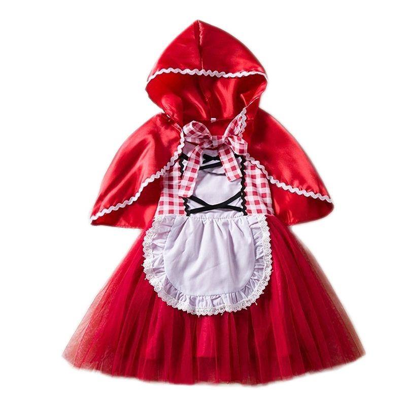 Fantasy Baby Girl Halloween Costume For Kids Little Red Riding Hood Snow White Girls Princess -3960
