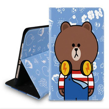 New arrive cartoon Brown bear Minnie rabbit pattern tablet case for ipad new 2017 A1822 brand quality tablet cover with parcel