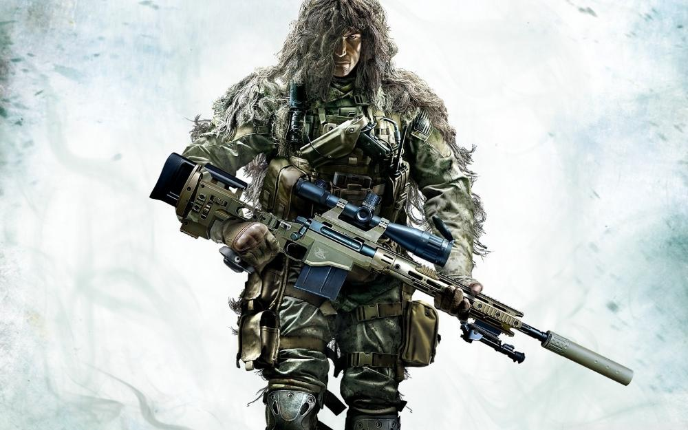 Living Room Home Wall Decoration Fabric Poster Sniper Ghost Warrior 2 Video GameChina