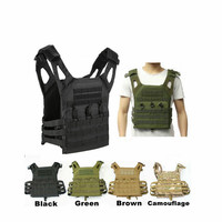 HYBON Security Tactical Vest Self Defense Supplies Military Molle Plate Carrier Airsoft Paintball CS Outdoor Protective JPC Vest