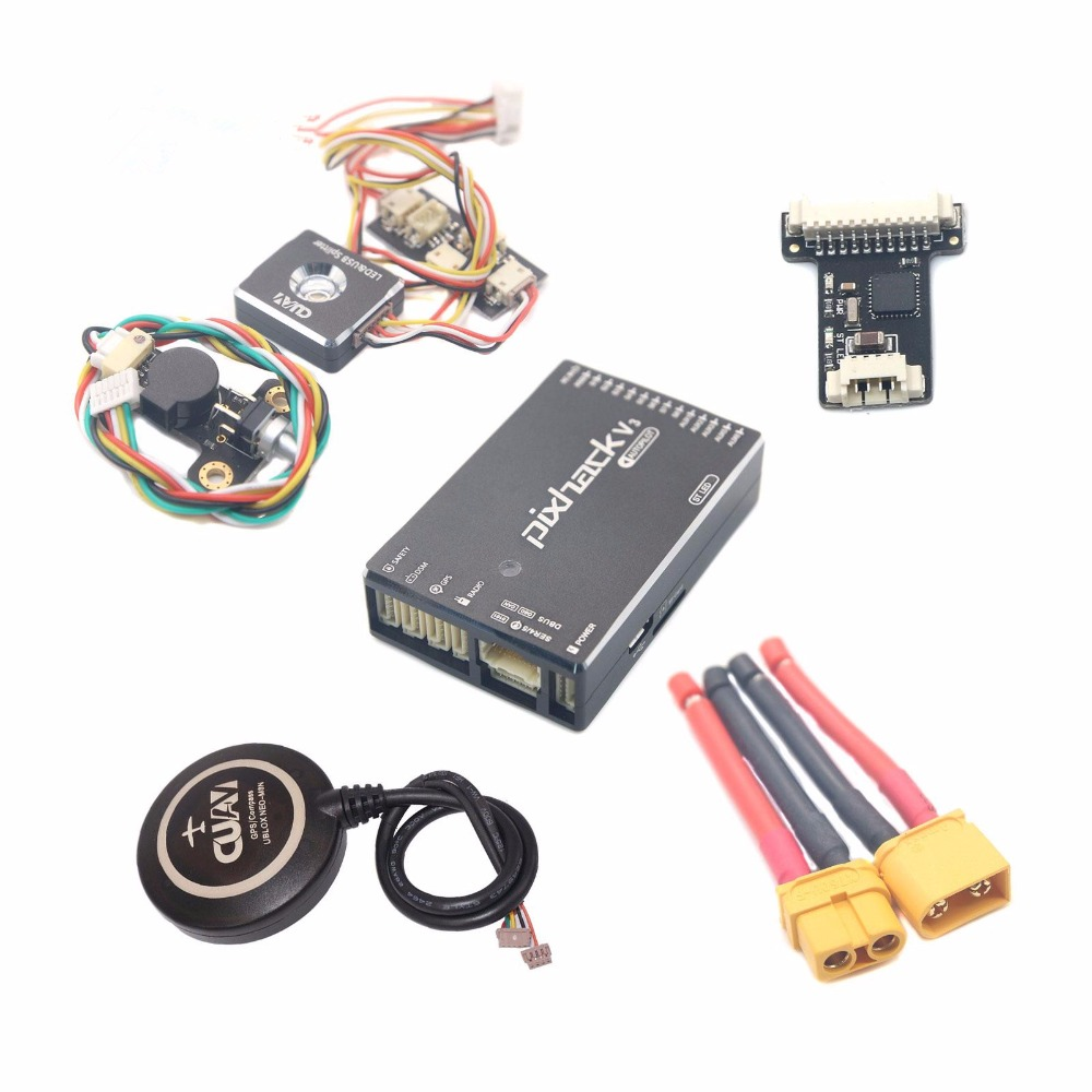 CUAV hot sale Pixhack V3 Flight Controller with M8N GPS for one set whole sale for Drone UAV free shipping cuav u blox neo m8n high precision gps module for pixhack pixhawk apm flight controller for rc aircraft spare parts accessories