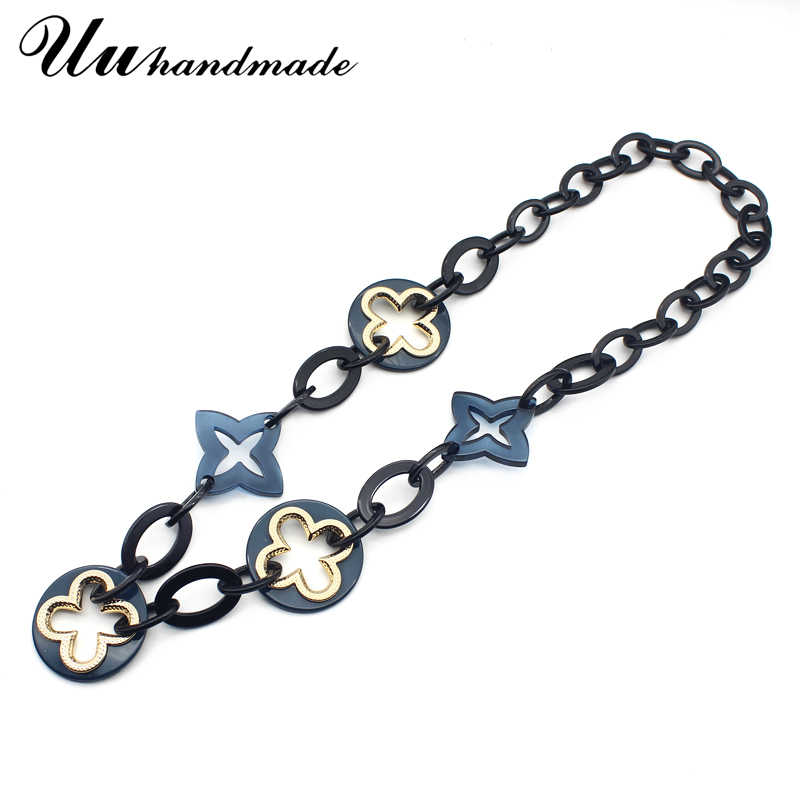 Fashion maxi necklace colar feminino punk jewelry acrylic collares etnicos long cross pendant for women statement collier mujer