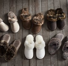 Men and women couple wool slippers home indoor winter large yards 45-44 men slip rubber-soled shoes 5 colors