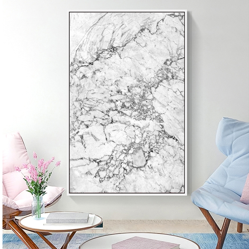 Modern Abstract Marble Texture Art Decorative Painting