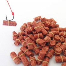 1 Bag 60-70 pcs Red Smell Grass Carp Baits Fishing Baits Fishing Lures Accessories Free Shiping