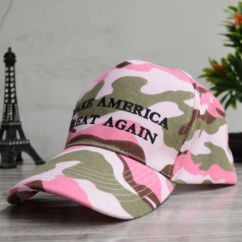 2017 USA President Donald Trump Slogan Make America Great Again Snapback  Hats Cotton Camo Mesh bone Baseball Cap for Gifts-in Baseball Caps from  Apparel ... 1d81e0e09d7