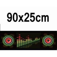 90*25cm 3D Car Styling LED EL Sheet Music Sticker Light Auto Sound Music Rhythm Activated Equalizer EQ Lamp Flash Panel Lights