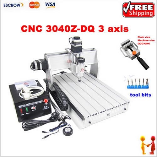 CNC 3040 Z-DQ With 3 Axis Engraving Machine 4030 Drilling machine router with vice as gift eur free tax cnc router 3040 5 axis wood engraving machine cnc lathe 3040 cnc drilling machine