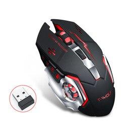 2.4G bezprzewodowa mysz usb 2400DPI akumulator ergonomiczna podświetlana myszka dla graczy dla Macbook Lenovo Asus Dell laptop hp myszy komputerowe