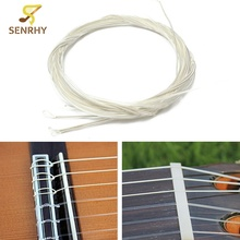 6 pcs/set Guitar Strings Nylon Silver Plating Set Super Light 1M Guitarra Replacements Classic Acoustic Guitar Parts Accessories