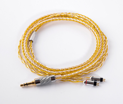 0.78mm 2 Pin Hand Made DIY Updated  8 Core 3.5mm Cable 7N Gold Silver Mixed Cable Cord For KZ ZS5 ZS6 ZSR ZST UE18 UM3X