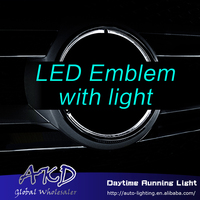 Car Styling for Mercedes benz led emblem light for benz GLS W166 GLS350 GLS400 GLS500 AMG GLS63 led logo light embelem led drl