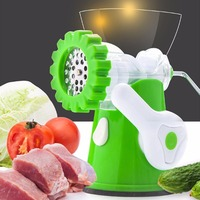 Small Size Practical Kitchen DIY Multifunctional Manual Meat Grinder Mincer Machine Stainless STeel Meat Slicer Cutter
