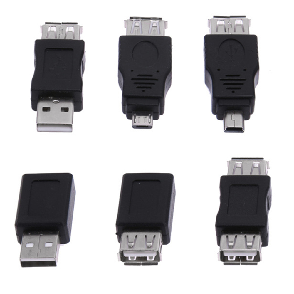 10Pcs 12Pcs OTG 5pin F/M Mini Changer Adapter Converter USB Male To Female Micro USB Adapter USB 2.0 Gadgets Phone Converter