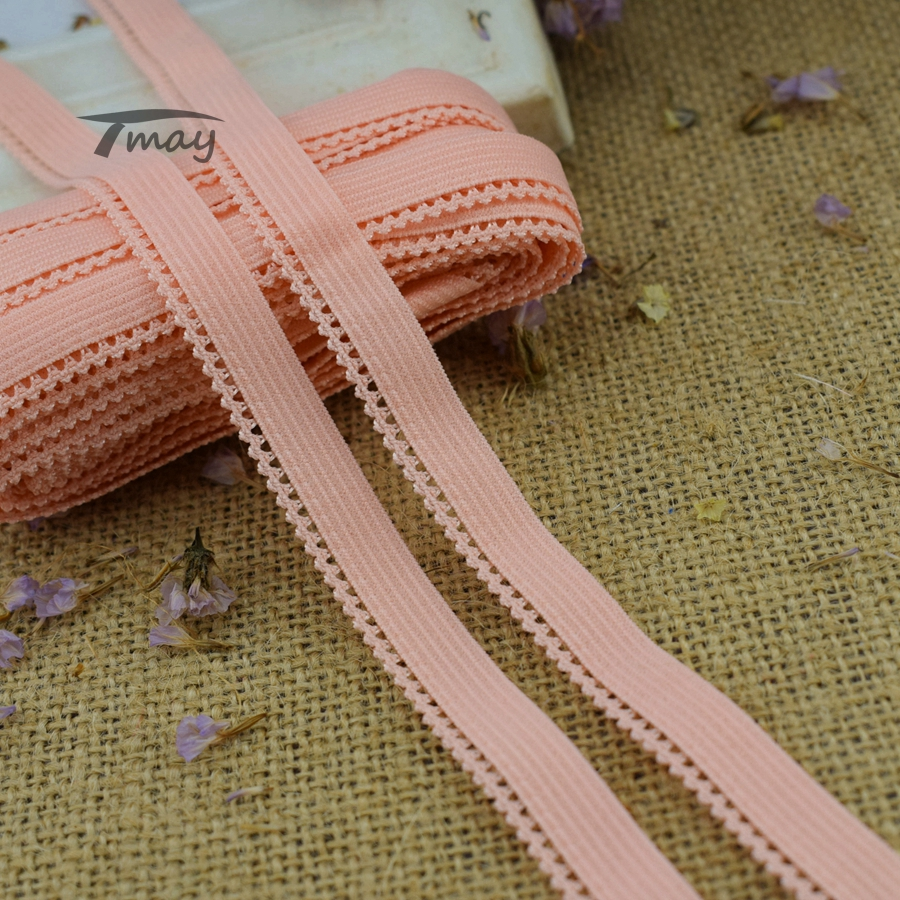 #1354 Cute Color Elastic Bands Lace Ribbon 11MM Wide 8yards/lot Stretch Lace Trim Sewing Appliques Net Fabric Sew Wedding Tape