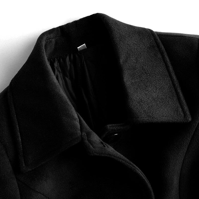 Blue women Grande Épaissir 2018 D'hiver Manteau Men Et Laine Tranchée men Black Black Affaire Outwear Mélange Longue Femmes Chaud Blue Taille Garder women Revers Hommes xA4SAYn1