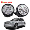 Cawanerl 1 Pair Car LED Light Right Left Fog Light Daytime Running Light DRL H8 H11
