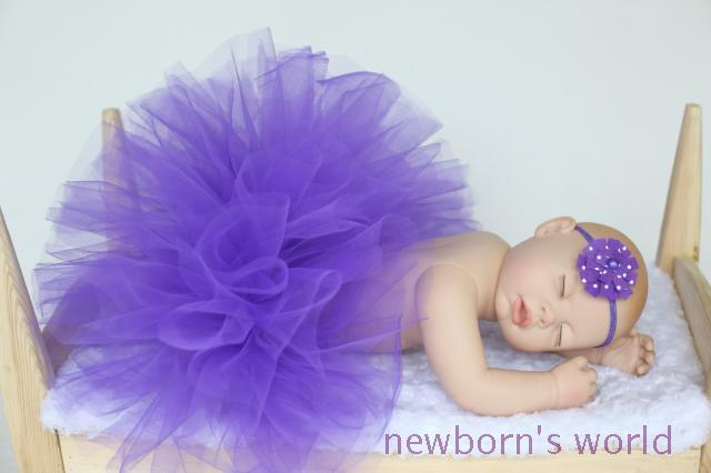 Púrpura oscuro de la venda + tutú de la falda, niño recién nacido bebé fotografía atrezzo Pink Tutu Tutu - bebé - se adapta a 0-24 Months1648