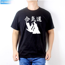 2019 Summer Dress New Aikido Fashion Printing Mens T-Shirts Short Sleeve Tshirts Cotton T Shirts Man Clothing Tops Tees